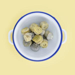 Corazones de alcachofa extra oscuras